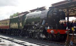 Flying Scotsman. When on West Somerset Railway stock photos