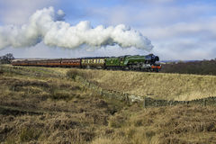 Flying scotsman. The flying scotsman on the North yorkshire moors railway stock images