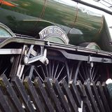Flying Scotsman. Side view train steamtrain royalty free stock photos