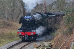 Flying Scotsman. Visit to North Yorkshire moors railway royalty free stock image