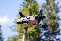 Flying scout drone Stock Photos