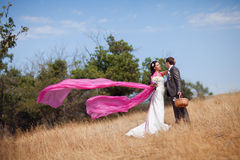 With flying shawl Stock Images