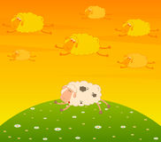 Flying sheep dream Royalty Free Stock Images