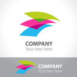 Flying sheets of paper. Logo template. Vector illustration Royalty Free Stock Image