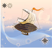 Flying ship. Stock Photography