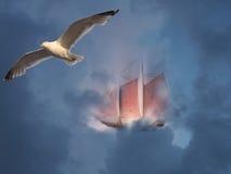 flying ship Στοκ Φωτογραφία