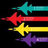 Flying show, info graphic background Stock Images