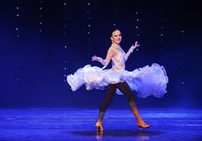 Flying skirt-Quickstep-the Austria's world Dance Stock Image