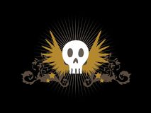Flying Skull Royalty Free Stock Images