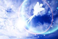 Flying in sky fairy Stock Photos