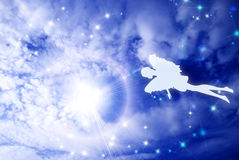 Flying in sky fairy Royalty Free Stock Photos