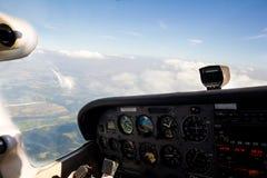 Flying Small Aircraft Royalty Free Stock Photos