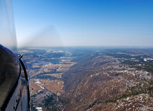 Flying in a small plane Royalty Free Stock Images