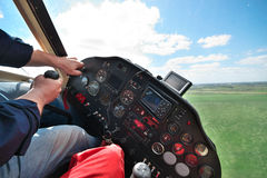 Flying a small plane royalty free stock images