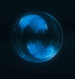 A flying soap bubble Royalty Free Stock Image