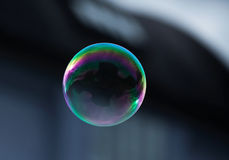 A flying soap bubble Royalty Free Stock Photo