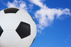 Flying soccer ball Royalty Free Stock Photos