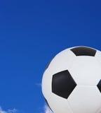Flying soccer ball Stock Photo