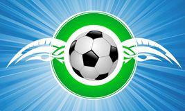 Flying soccer ball Stock Image