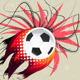 Flying soccer ball Royalty Free Stock Images