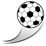 Flying Soccer Ball Stock Image