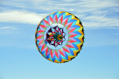 Flying Sombrero (2). This is a photo of a sombrero kite flying in a blue sky stock photography