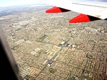 Flying into Southern California Royalty Free Stock Photo