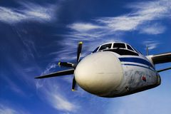 Flying Soviet airplane Royalty Free Stock Photos