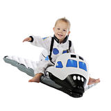 Flying Space Baby Royalty Free Stock Photography