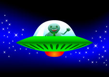 Flying spacecraft Royalty Free Stock Image