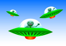 Flying spacecraft Royalty Free Stock Photos