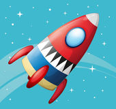 A flying spaceship Stock Photography
