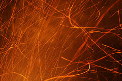 Flying sparks Royalty Free Stock Photo