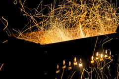 Flying sparks. Stock Image