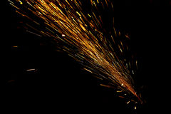 Flying sparks Stock Photography