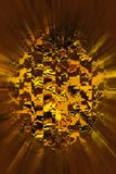 Flying sphere. Cubed sphere in motion Royalty Free Stock Images