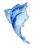 Flying splash blue liquid Stock Photo