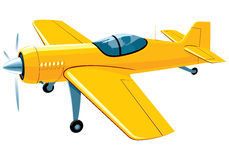 Flying sport airplane Royalty Free Stock Images