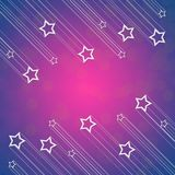 Flying star background Royalty Free Stock Image