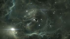 Flying through a starfield in outer space stock footage