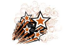 Flying stars Stock Image