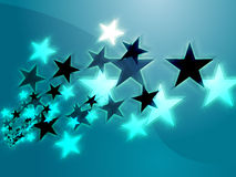 Flying stars Royalty Free Stock Photo