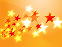 Flying stars Royalty Free Stock Photos