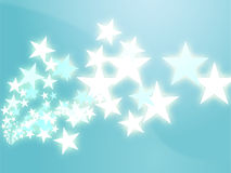 Flying stars illustration Stock Images