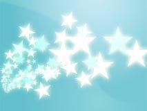 Flying stars illustration Stock Images