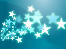 Flying stars illustration Royalty Free Stock Images