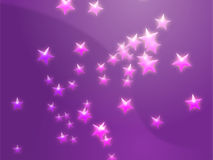 Flying stars illustration Stock Photo