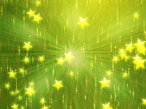 Flying stars illustration Royalty Free Stock Images