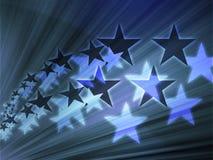 Flying stars illustration Royalty Free Stock Photos