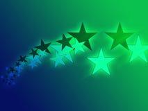 Flying stars illustration Stock Photography